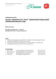 Unterlagen PK Voranschlag 11.pdf - SP Stadt Zürich