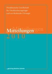 Mitteilungen 2010 - Norddeutsche Gesellschaft für ...