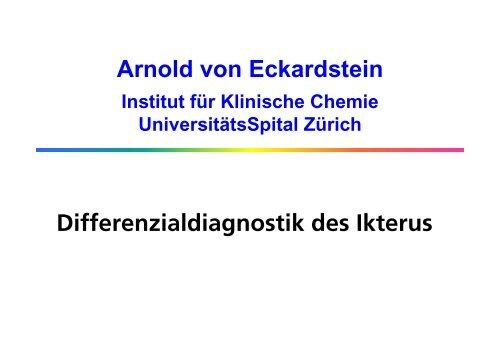 Ikterus - Institut für Klinische Chemie - UniversitätsSpital Zürich