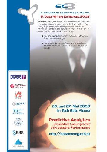 Predictive Analytics Konferenz 2013