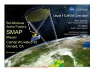 4. Level 1 Cal/Val Overview (Mike Spencer, JPL) - SMAP