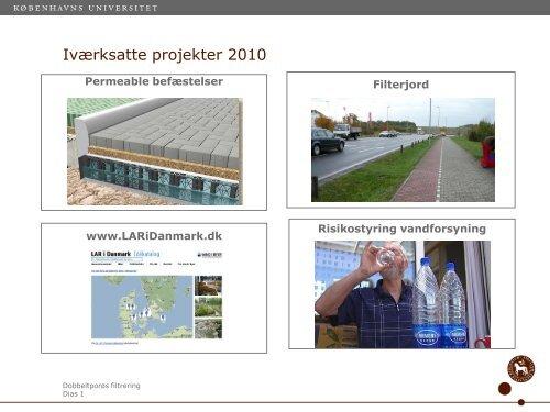 Præsentation af de fire igangsatte innovationsprojekter - Vand i Byer