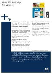 HP No. 130 Black Inkjet Print Cartridge