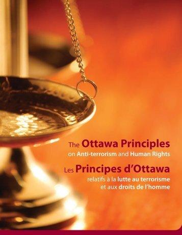 The Ottawa Principles Les Principes d'Ottawa - Aix1 Uottawa