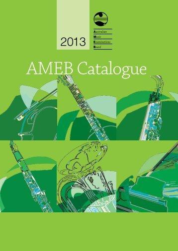 AMEB Catalogue 2013 - Hal Leonard Australia