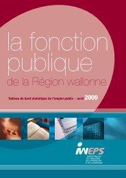 Fonction publique de la Région wallonne 2009 - Iweps