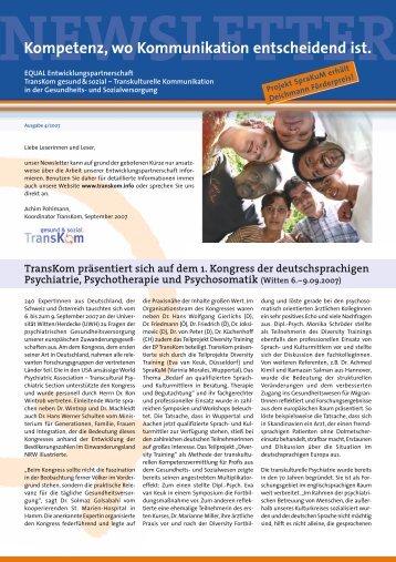 Newsletter Nr. 4 - Transkom