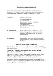 CASTLEREAGH BOROUGH COUNCIL Minutes of the proceedings ...