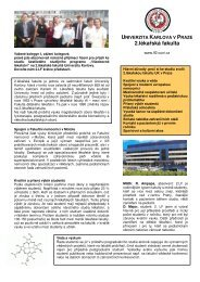 2. lékařská fakulta - Univerzita Karlova