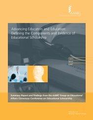 Advancing Educators and Education - AAMC's member profile