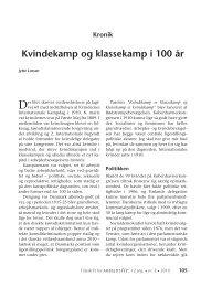 Kvindekamp og klassekamp i 100 år (kronik) - Nyt om Arbejdsliv