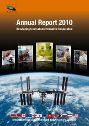 Annual Report 2010 - ISTC
