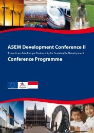 ASEM Development Conference II Conference Programme - TEIN3