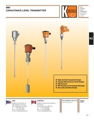 NRF Capacitance Level Transmitter - Temp-Press Inc