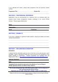 Application Form – Part Time - IPFMA - Page 3