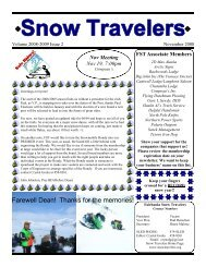 November 2008 - Fairbanks Snow Travelers
