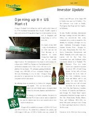 USA launch of Chang Beer - Thai Beverage Public Company Limited