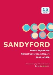 Annual Report and Clinical Governance Report 2007 to 2008