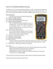 Quick Instructions for Fluke (yellow) Multimeters