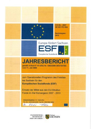 ESF-Jahresbericht 2012 [Download,*.pdf, 2,48 MB] - Strukturfonds in ...