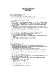 CfAO Retreat Meeting Agenda