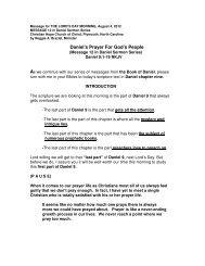 Daniel's Prayer For Gods People - Christian Hope Church Home