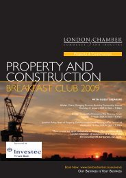 property and construction breakfast club 2009 - London Chamber of ...