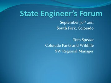 How can State Agencies Cooperate? - Colorado Division of Water ...