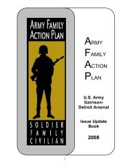 army family action plan 2008 - Morale, Welfare & Recreation Home ...