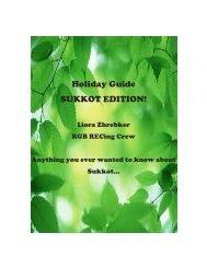 Holiday Guide SUKKOT EDITION!