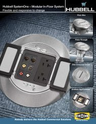 Hubbell SystemOne – Modular In-Floor System - Hubbell Wiring ...