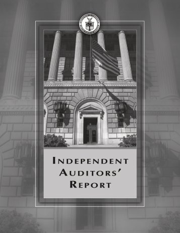 INDEPENDENT AUDITORS ' REPORT - Department of Commerce