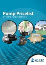 Pump Pricelist October 2013