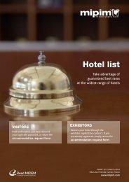 hotel list - Mipim