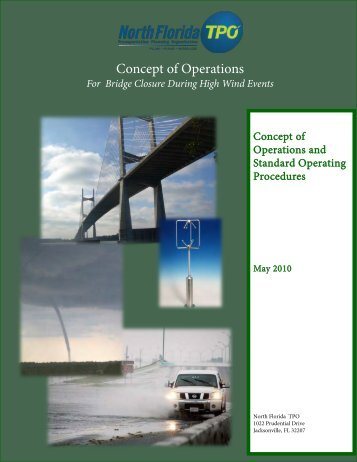 Concept of Operations and Standard Operating ... - North Florida TPO