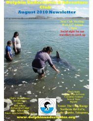 August 2010 Newsletter - DolphinUnderwater.org