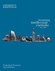 Postgraduate-prospectus-2013 (4.95 MB) - University of Birmingham