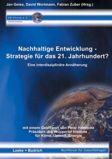 Nachhaltige Entwicklung - Strategie für das 21 ... - metalogikon