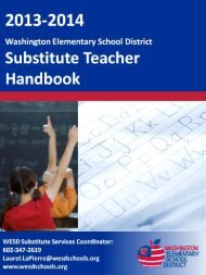 Substitute Handbook - Washington Elementary School District 6