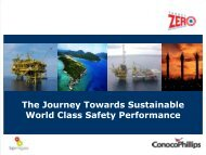 The Journey Towards Sustainable World Class Safety Performance