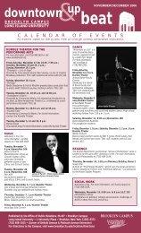 November - December 2006 calendar PDF - Long Island University