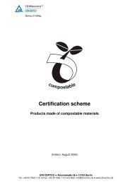 "Certification scheme ""products made of compostable ... - Aimplas"