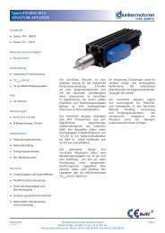 Servotube Linearaktuator XTA38 Datenblatt