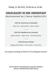 Programmheft zum Download - Kreuzkirche Bonn