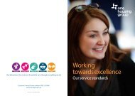 Working towards excellence - One Housing Group