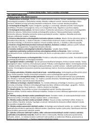 1. Predmet štátnej skúšky - Teória a metódy v archeológii Kód ...