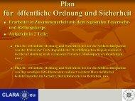 Plan für öffentliche Ordnung und Sicherheit - CLARA@eu