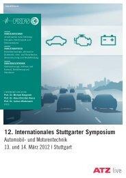 12. Internationales Stuttgarter Symposium - e-mobil BW