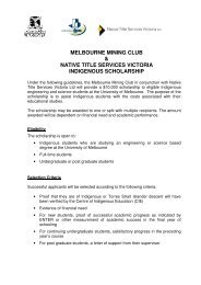 melbourne mining club & native title services victoria indigenous ...