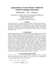 Approximate N-Gram Markov Model for Natural Language Generation